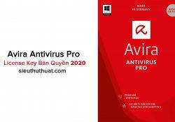Chia sẻ License Key Avira Antivirus Pro đến năm 2020