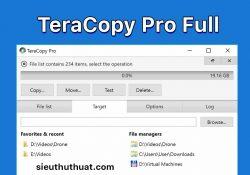 TeraCopy Pro 3.27 mới nhất – Tăng tốc copy dữ liệu