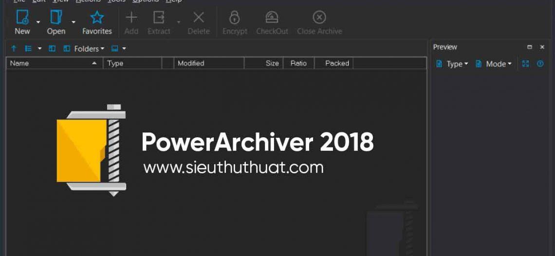 PowerArchiver 2018 Standard 18.00.46 – Nén, mã hóa dữ liệu