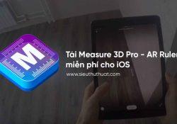 Tải Measure 3D Pro – AR Ruler miễn phí cho iOS – Ứng dụng đo lường
