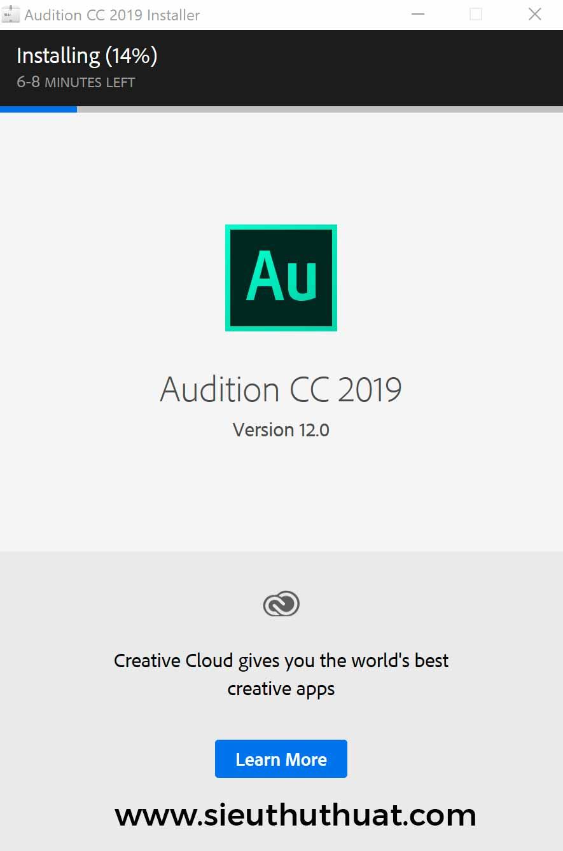 Hướng dẫn cài đặt Audition CC 2019