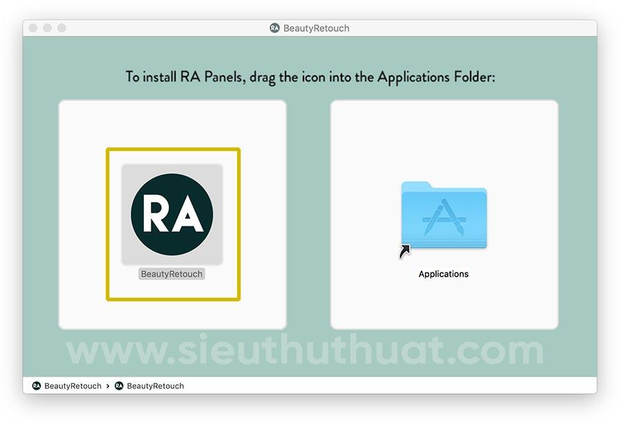 Cài đặt RA Beauty Retouch Panel trên macOS