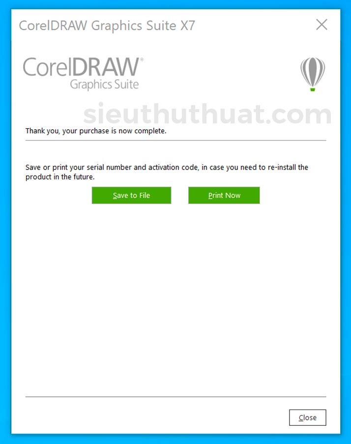 Cài đặt và kích hoạt CorelDRAW X7 thành công